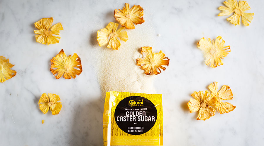 Pineapple blossoms with Natura Sugars Golden Caster Sugar